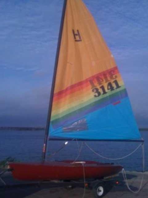 Hobie Holder, 12 ft sailboat