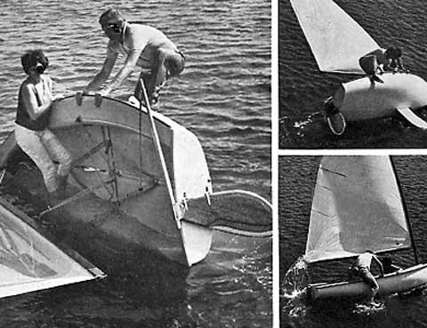 Kite Class cat boat, 1973, Winona, Minnesota sailboat
