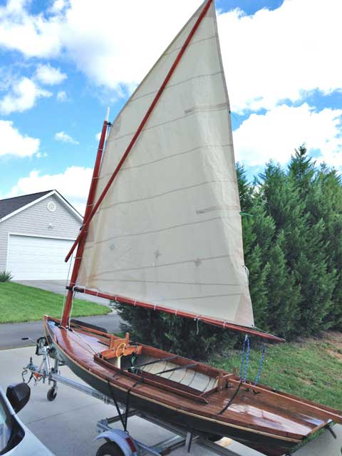 Wooden Sailboats For Sale >> Melonseed skiff, 2009, Sweetwater, Tennessee, sailboat for sale from Sailing Texas, yacht for sale