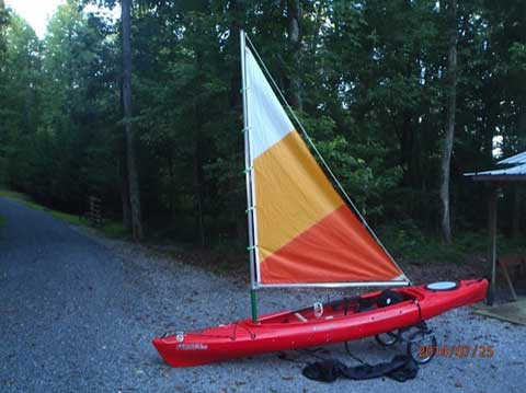 Perception Prodigy 13.5 sailing kayak, 2012 sailboat
