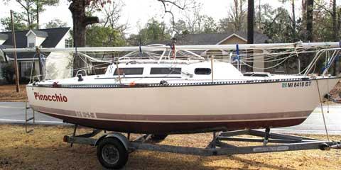 S2 6.9 (22'), CRUISER/RACER, 1985 sailboat