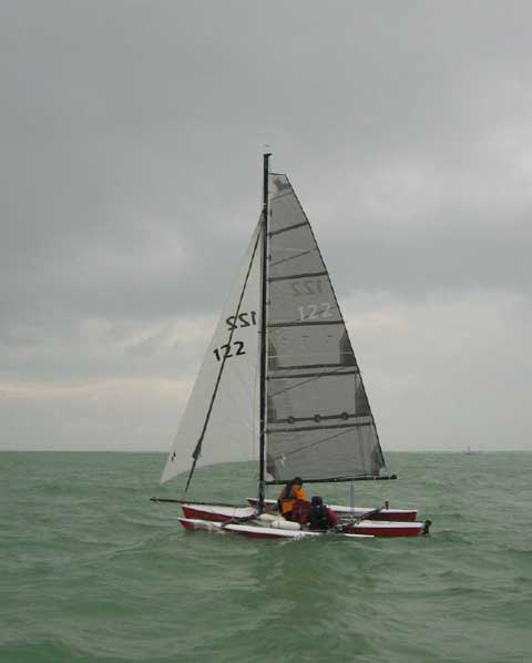 Sailbird Trimaran, 18 ft., 1974 sailboat