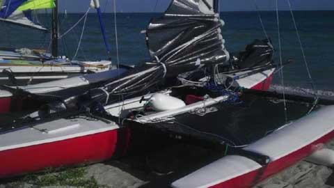 Sailbird Trimaran, 18 ft., 1974 sailboat