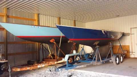 2 Shields sailboats sailboat