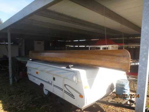 Plywood Canoe, 16' sailboat