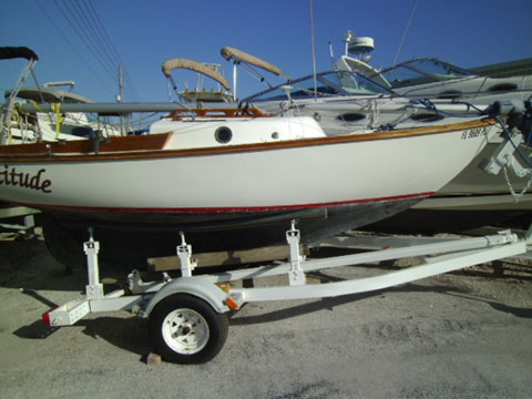Cape Dory Typhoon, 1979, Lake Lewisville, north of Dallas