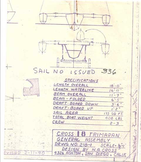 Cross 18' Trimaran, 1992 sailboat