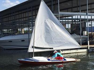 Dolphin Senior, 14', early 70s sailboat