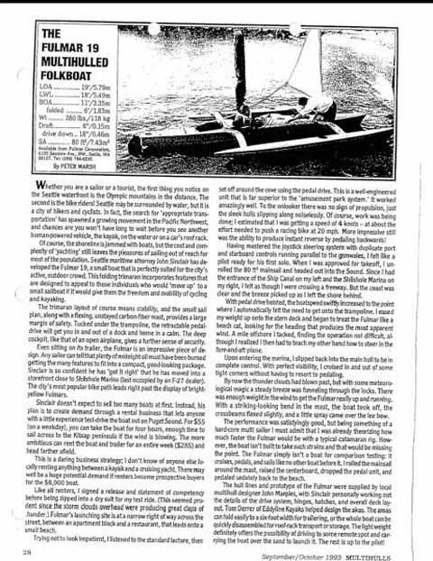Fulmar 19 Trimaran, 1998 sailboat
