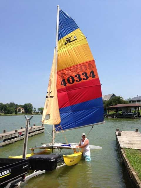 Hobie Cat, 14 ft., 1975 sailboat