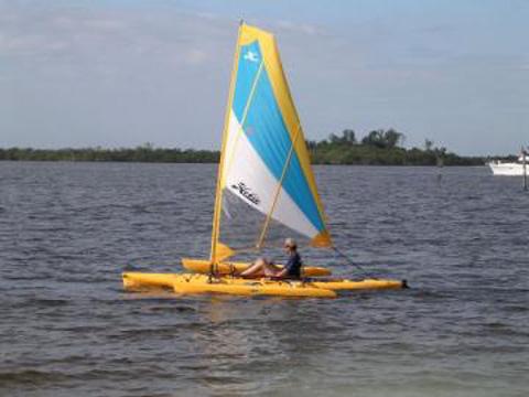 Pair of Hobie Adventure Island Kayaks, 2007,2008 sailboat