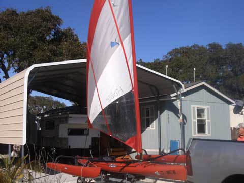 Hobie Adventure Island trimaran sail/kayaks, 2007 and 2010, 16 ft., Rockport, Texas sailboat