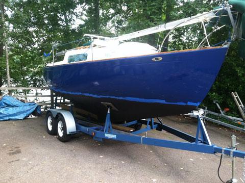 Morgan 24 Sloop with Custom Trailer, 1967 sailboat