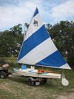 early 70s  Dolphin Senior sailboat