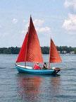 1969 Drascombe Lugger 19 sailboat