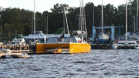 Kurt Hughes Designed, Custom Performance World Cruising Catamaran sailboat