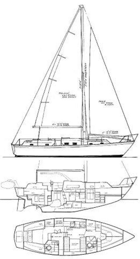IRWIN 37' Center-Cockpit Ketch, 1973 sailboat