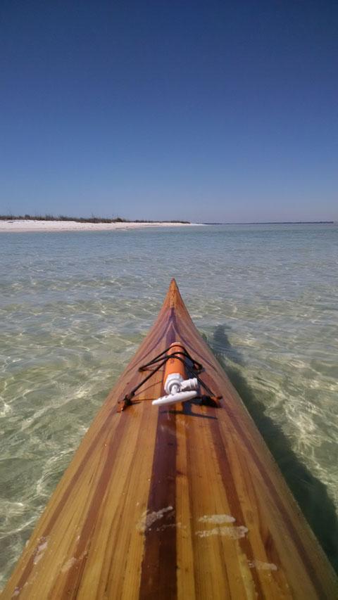 Kayak, cedar strip, 2009 sailboat