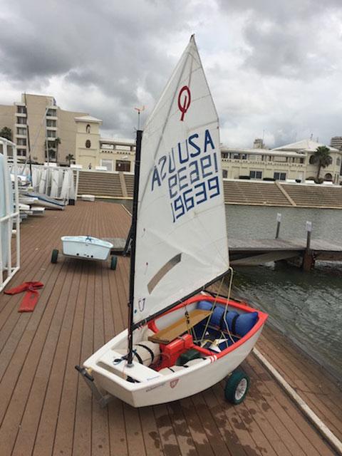 Optimist Texas Edition sailboat