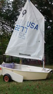 1991 Optimist sailboat