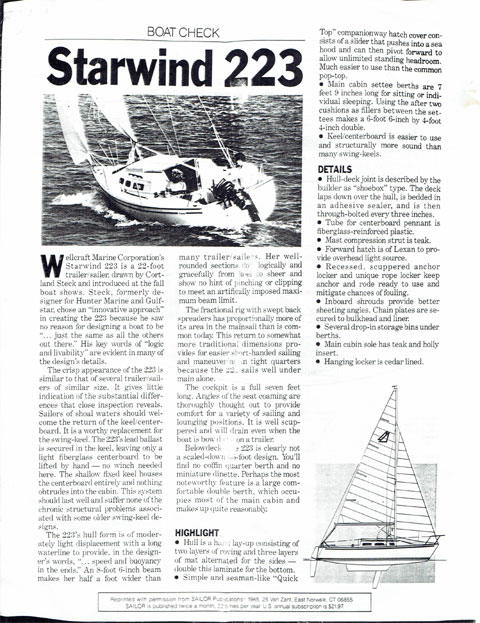 Wellcraft Starwind 223 1985 sailboat
