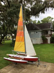 Aquadyne Sailbird trimaran sailboat