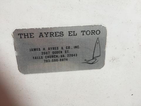 EL Toro sailboat