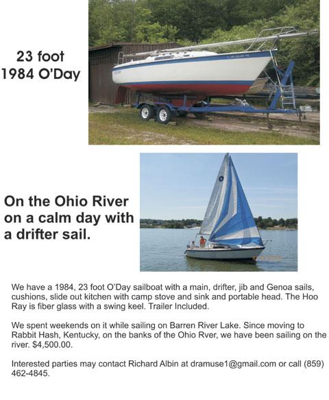 O'Day 23, 1984 sailboat