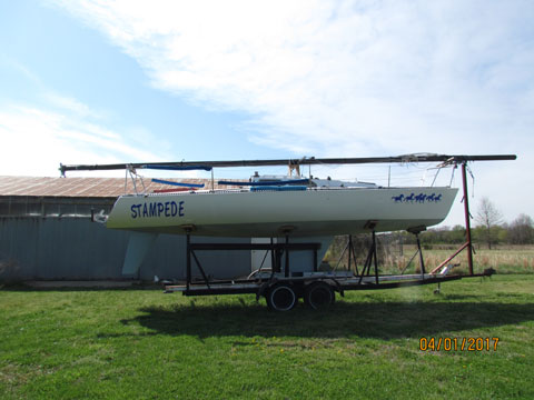 Olson 30 with trailer, 1980 sailboat