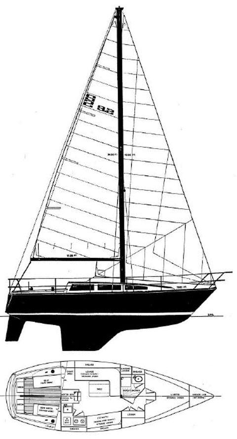 S2 Yachts 9.2A. 1979 sailboat