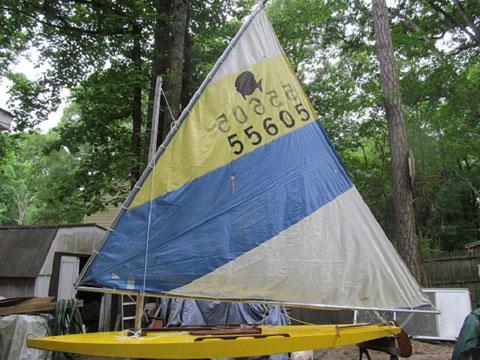 Super Sailfish, wood, early 1950s sailboat