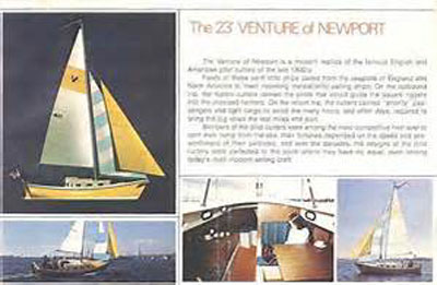 Venture of Newport, 23 ft., 1976 sailboat