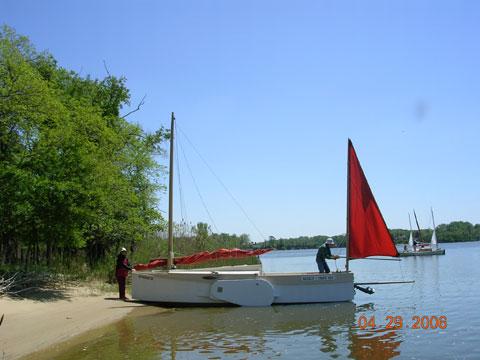 Bolger designed MARTHA JANE sailing sharpie, 1998 sailboat