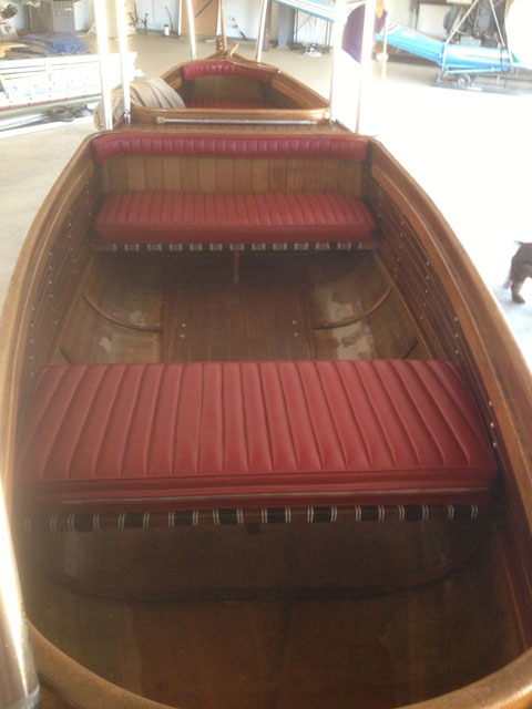 Custom Glass over wood double ender sailboat