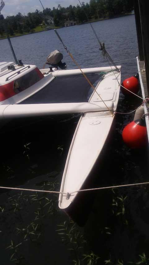 Dragonfly 25', Folding trimaran, 1990 sailboat