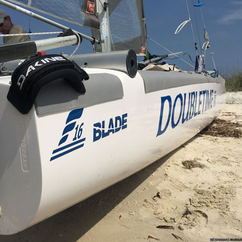 Formula 16 (F-16) Blade Catamaran sailboat