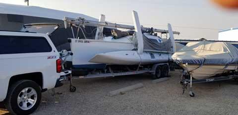 Farrier f-25A, 1998 trimaran sailboat
