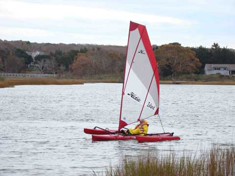 2 Hobie Adventure Island trimarans, 2008 and 2011 sailboat