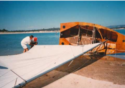 Steven Kulmar 18' Racing Yacht, early 70s sailboat