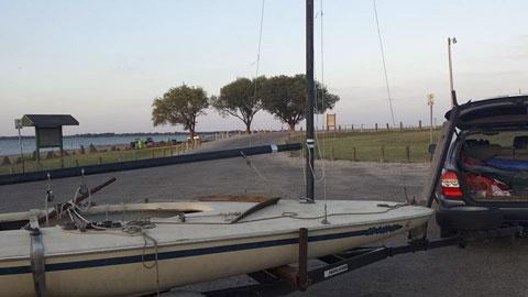 Melges MC scow, 16 ft., 1981 sailboat