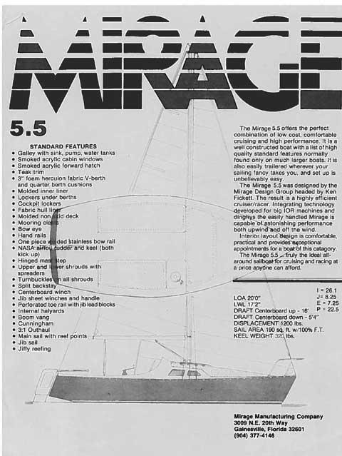 Mirage 5.5 (20 feet), 1984 sailboat