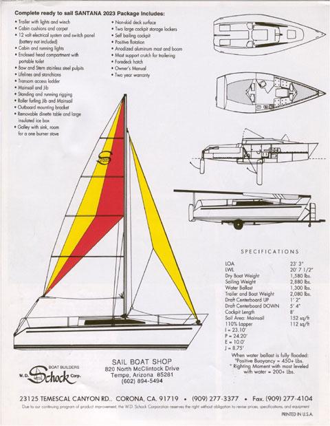 Santana 2023A, 1996 sailboat