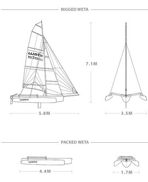 Weta Trimaran, 2010 sailboat