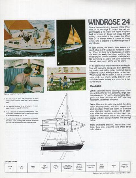 Windrose 24', 1973 sailboat