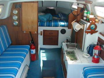 1975 American 25 sailboat, cabin