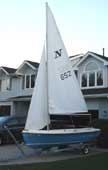 1975 American Fiberglass Neptune 14 sailboat