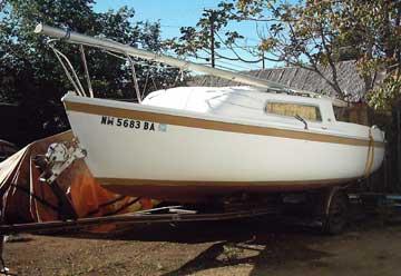 1972 Aquarius 21 sailboat