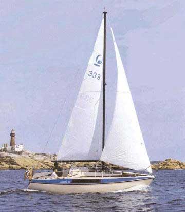 1984 Bavaria 707 sailboat