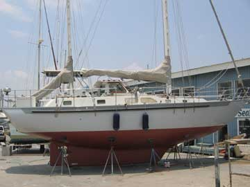 1998 Bruce Roberts 45 ketch sailboat