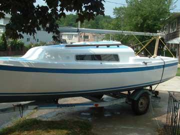 21 clipper marine sailboat